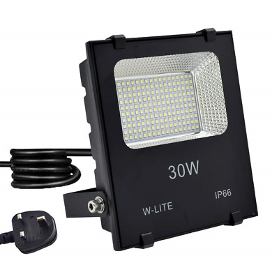 30W LED Garden Floodlight IP66, Outdoor Flood Light Plug in,Upgraded...