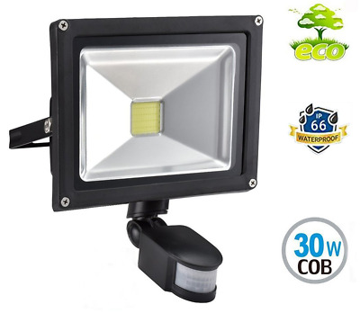 30W Led PIR Floodlight Motion Sensor, Waterproof IP66, Cool White. Security...
