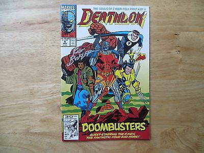 1991 Marvel Comics Deathlok # 5 Fantastic Four X-Men Signed Creator Rich Buckler
