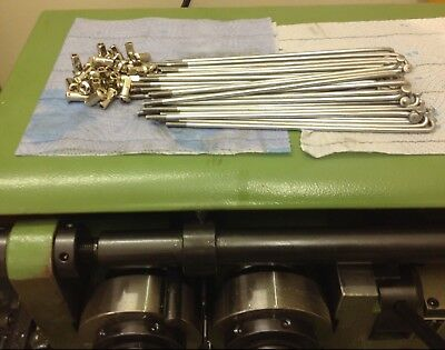 Bsa M20 galvanised spokes and nipple set for front wheel new