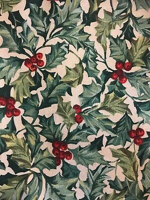 """Longaberger 36"""" TABLE SQUARE OR OVERLAY in """"AMERICAN HOLLY"""" Fabric"""