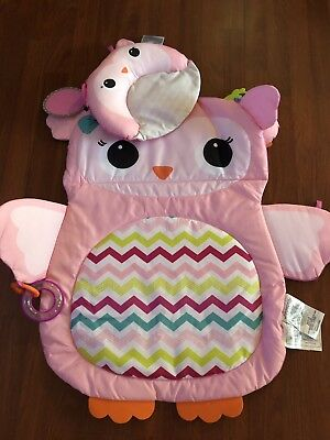 Owl Tummy Time Prop and Play Activity Plush Mat For Baby