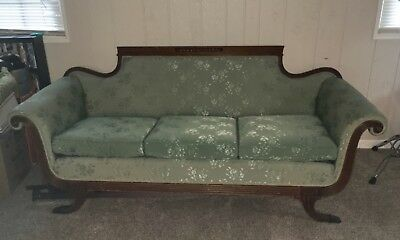 Antique Duncan Phyfe Claw Foot Sofa