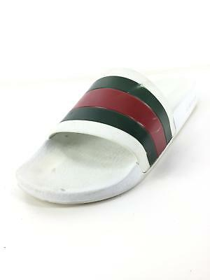 1bcc36428 GUCCI PURSUIT 72 white multi 7 rubber signature web slide sandal ...
