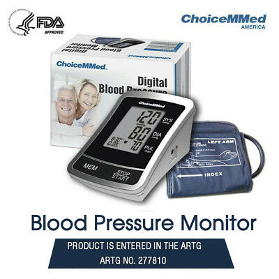 ChoiceMMed Automatic Digital Blood Pressure Monitor TGA Approved Upper Arm Type