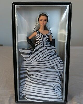 *new* Chiffon Ball Gown Black & White Collection Barbie Doll Platinum Label 2016