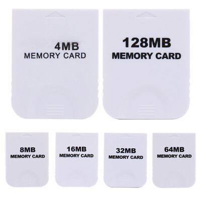 4MB 8MB 16MB 32MB Memory Card for Nintendo Wii game Gamecube NGC Console White