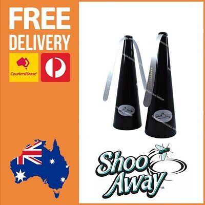 Shoo Away Fly & Bug Repeller for Outdoors Camping Home RV ShooAway Black x 2