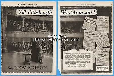 1920 Edison Phonograph Carnegie Hall Pittsburgh PA Marie Rappold Laurenti Ad