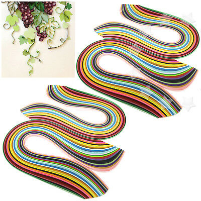 2 Sets of 3/5mm Quilling Paper Strips Assorted 36 Colours DIY Craft 360pcs