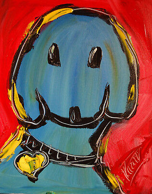 DOG Stylish Animal Figure Abstract Wall Art Oil Painting Canvas Painted New  RT6