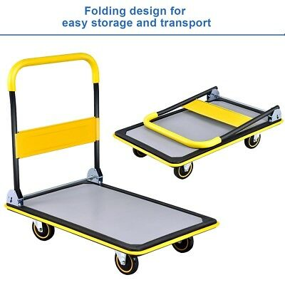 330 lbs/660 lbs Folding Platform Cart Dolly Hand Truck US