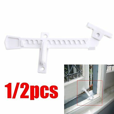 1/2x UPVC Window Restrictor Hook Children Lock Safety Catch White For Tilt&Turn