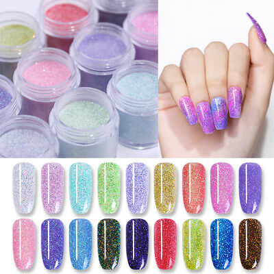 NICOLE DIARY 10ml Dipping System Powder Holo Chameleon Glitter Nail Art Manicure