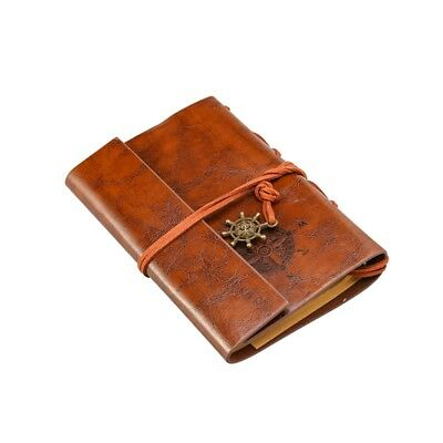 Retro Vintage Pirate Anchor Loose-Leaf String Notebook Travel Journal Diary Gift