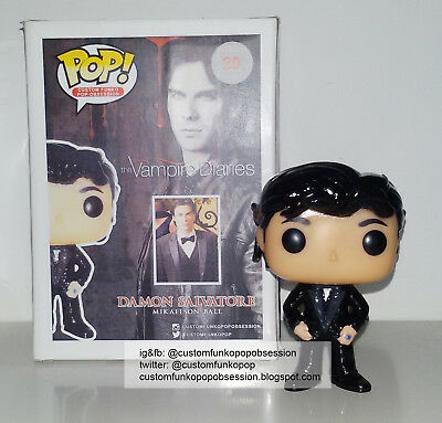 The Vampire Diaries Custom Funko Pop di Damon Salvatore - Ian Somerhalder