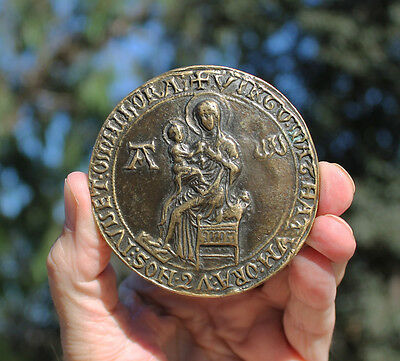 France, Medal with Medieval Seal of Montpellier, Our Lady
