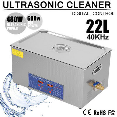 22L Ultraschallreiniger Reinigungsgerät Ultraschallbad Ultrasonic Cleaner + Korb