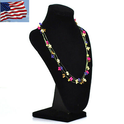 1X Black Velvet Collapsible Necklace Easel Stand Jewelry Showcase Display GIFT