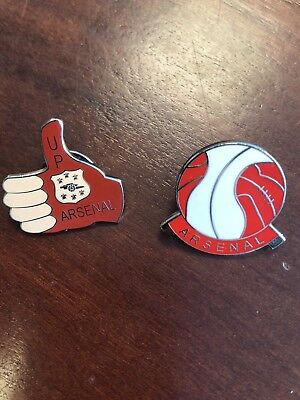 2 Arsenal FC enamel pin badges-Great condition.