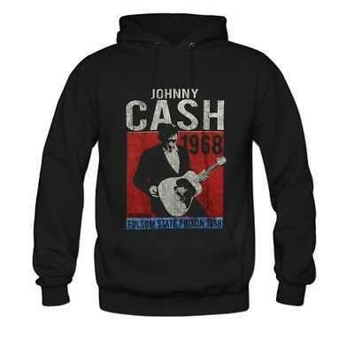 a245495a9 JOHNNY CASH HOODIE MAN IN BLACK Middle Finger Classic Rock Pullover ...