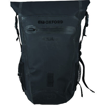 Oxford Aqua B-25 Black Back Pack 25L Motorbike Luggage Accessory Waterproof
