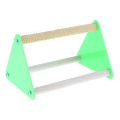 Parrot Play Wood Stand Bird Grinding Perch Table Platform Birdcage Stands