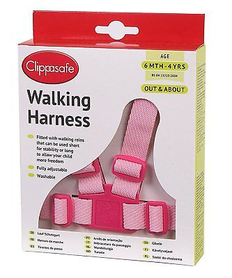 Clippasafe Reins and Walking Harness 6m-4yrs Adjustable Washable Toddler Child