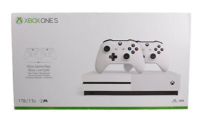 Xbox One S 1TB Konsole - Bundle  2. Controller + 3 Monate Gamepass + 14 Tag Neu