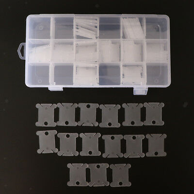 18 Slots Embroidery Floss Boxes Storage with 120pcs Floss Bobbins for Sewing
