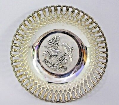 Vintage Towle  Silver Plated Pierced CANDY Bowl OR Nuts Dish Serving