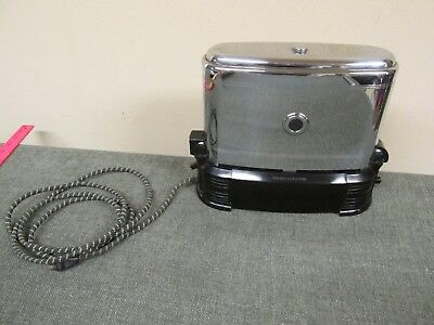 Vtg 1940s Chrome & Bakelite Model J Toast-O-Lator Working Walkthrough