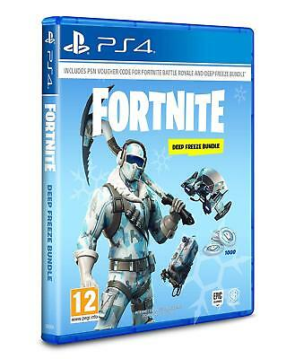 PS4 Spiel Fortnite Deep Freeze Bundle (Code in Box - ohne CD) 1.000 V-Bucks NEU