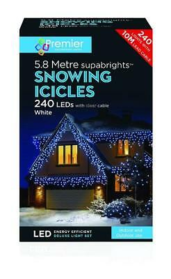 240 Led Supabright White Led Snowing Icicle Christmas Lights Outdoor