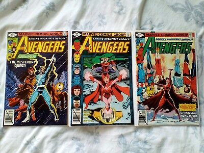 Avengers 185,186,187 Byrne art. Origin of Quicksilver & Scarlet Witch 1979 cents