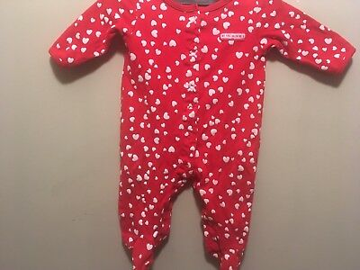 Carter's Infant Girl's First Valentine's Day Footed Sleeper, Size 9 Months