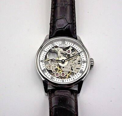 Gent's Rotary Vintage Skeleton Mechanical Watch (GS02521/06)