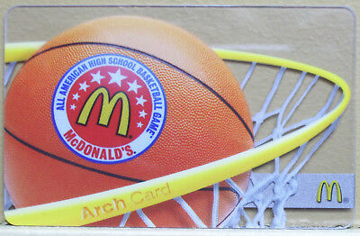 Unused McDonalds AA High School BASKETBALL Collectible GIFT ARCH CARD No $ Value