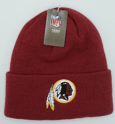 244819496c1 NFL Washington Redskins Reebok Adult Winter Knit Cuffed Cap Hat Beanie NEW!
