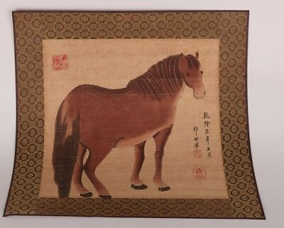 Famous Chinese Master Art Handmade Painting Horse Decoration Collection