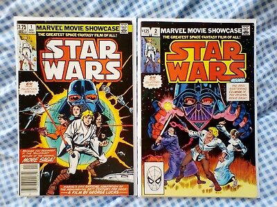 Marvel Movie Showcase 1 and 2 Featuring Star Wars 1,2,3,4,5,6, nice grades [6.0]