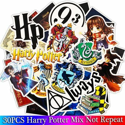 30 Pcs Harry Potter Cartoon Stickers for Luggage, Skateboard, Laptop, Stationery