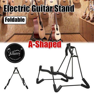 Portable Folding Guitar Stand Electric Acoustic Bass Floor Rack Holder