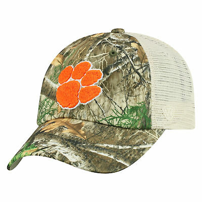 32e37555c87e5 Clemson Tigers NCAA Adjustable Sentry Realtree Poly Twill and Mesh Hat Cap