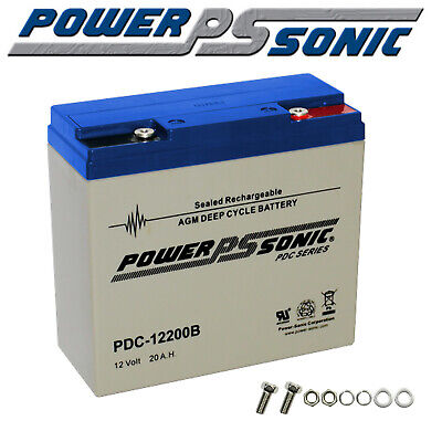 Powersonic 20Ah Amp Hour 12V Deep Cycle Battery Agm Dual Fridge Solar 20 Ah New