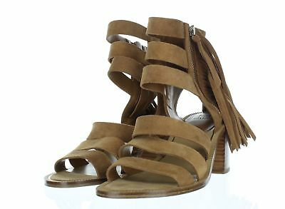 ee094cb0a 1517 Marc Fisher Ltd Collin Natural Suede Fringe Heel Sandal Women s Sz ...