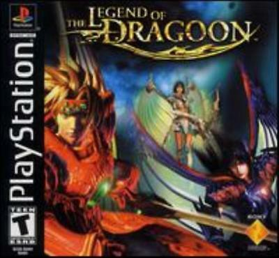 The Legend of Dragoon PS1 PS2 PLAYSTATION dragon land fight role-playing game!