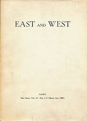 East and West. IsMEO New Series, Vol. 18 - Nos. 1-4, 1968. 2 volumes. Quarterly