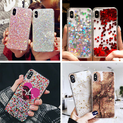 Bling Glitter Sparkle Fashion Girly Case Cute Cover F iPhone Xs Max XR 6s 7 8+