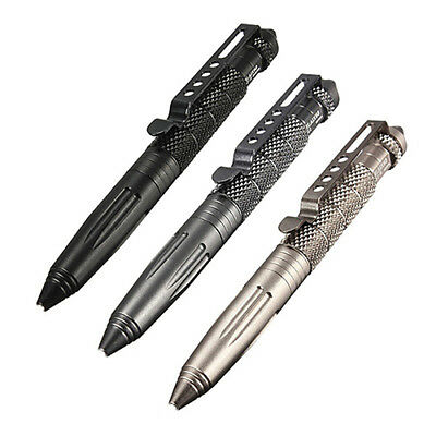 New Outdoor Survival Tactical Pen Glass Breaker Self Defense Camping Tool Beam